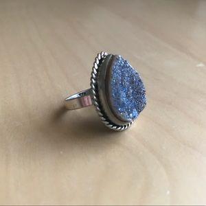 Vintage Stone Druzy Ring size 9